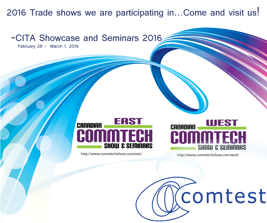 The trade shows we are exhibiting at in 2016